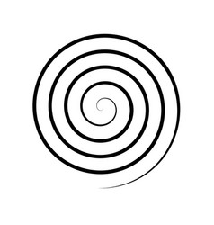 Thin black spiral symbol simple flat vector