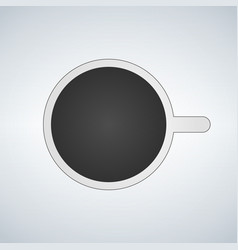Top view of mug with coffe icon on vector