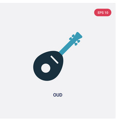 Two color oud icon from religion-2 concept vector