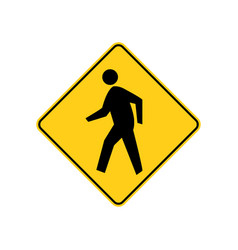 Usa traffic road signs pedestrian crossing ahead vector
