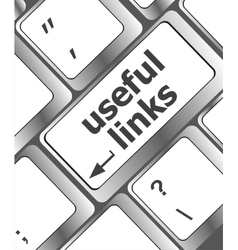 useful links keyboard button - business concept vector image