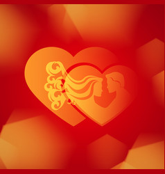 Valentines day or wedding background vector