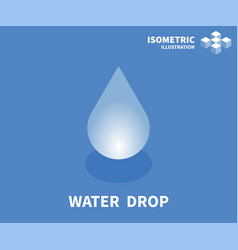 Water drop icon isometric template vector