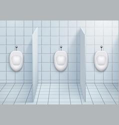 Wc restroom with urinals vector