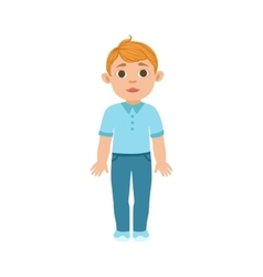 White Boy Kid Standing Part Of Growing Stages vector image vector image