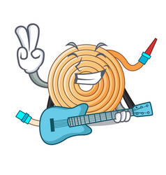 With guitar water hose to extinguish the fire vector