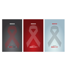 world aids day posters set layout design vector image
