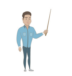 young hispanic businessman with a pointer vector image