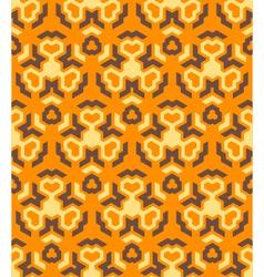 abstract geometric yellow orange brown seamless vector image vector image