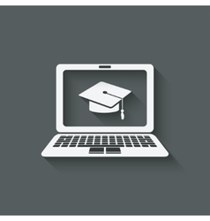 distance online learning symbol vector image vector image