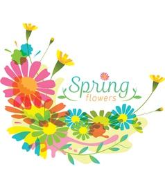 Flowers Spring Season Heading vector image vector image