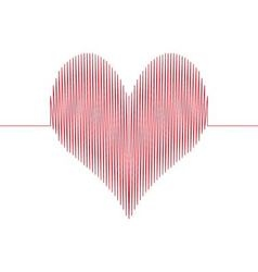 love wave heart vector image