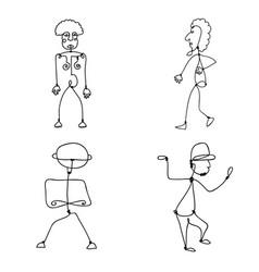 set of abstract human symbols vector image vector image