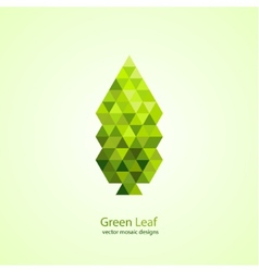 Colorful green leaf vector image vector image