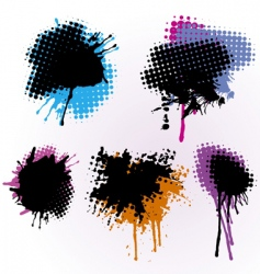 colorful splashes vector image vector image