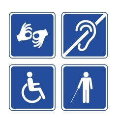 Disabled signs vector image vector image