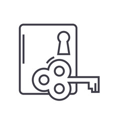 key to success line icon sign vector image