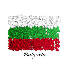love bulgaria flag heart glossy with love from vector image