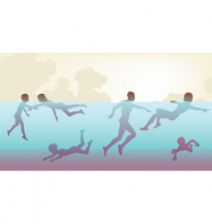 people swimming vector image vector image
