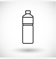 bottle of water thin line web icon vector image vector image