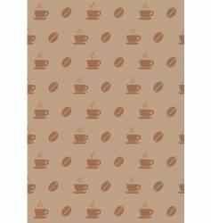 coffee wallpaper vector image