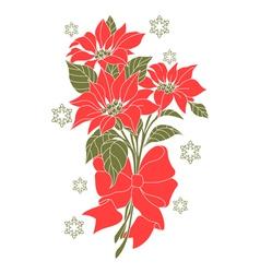 Flower of christmas night vector image