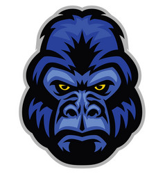mascot of gorilla head vector image vector image