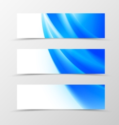 Set of header banner wave design vector image