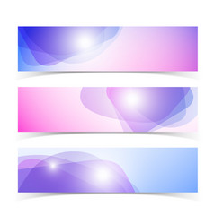 abstract horizontal banners set vector image vector image