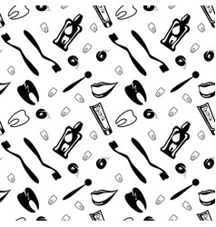 Dental care colour seamless pattern vector