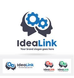 Idea link logo vector