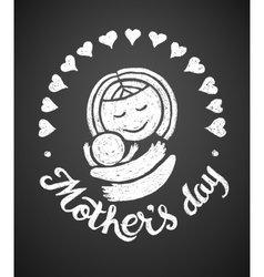 Mothers day chalk drawing vector