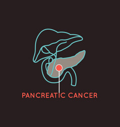 pancreatic cancer logo icon vector image vector image