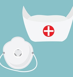 Respirator and hat vector image
