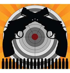 target and pistols vector image vector image
