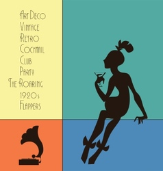 The roaring flappers girl design vector image