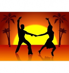 two spain dancers vector image vector image