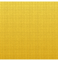 Vintage golden pattern of squares vector image