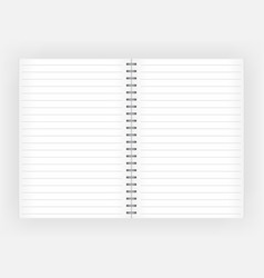 white notepad with lines for writing organizer vector image