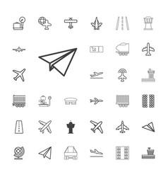 33 plane icons vector