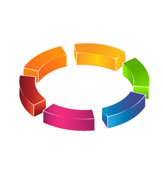 3D circle boxes Logo vector image