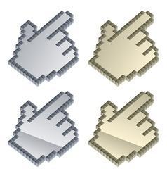 3d metallic cursors vector