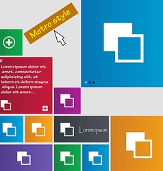 Active color toolbar icon sign Metro style buttons vector