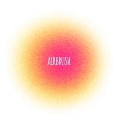 Airbrush splatter stain Round paint vector