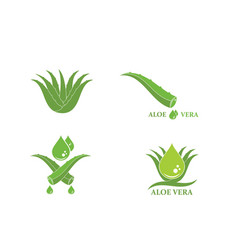 Aloevera logo icon design vector