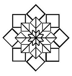 arabic geometric ornament black and white vector image