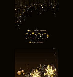 background christmas design with glowing vector image