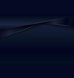 Banner web template 3d dark blue metallic shiny vector