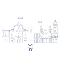 bari city skyline vector image