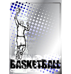 Basketball silver poster background vector